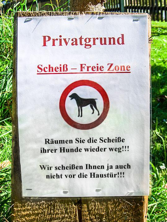 Scheißfreie Zone