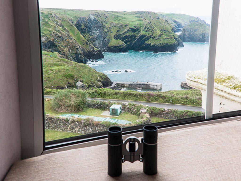 Blick vom Hotelfenster in Mullion Cove
