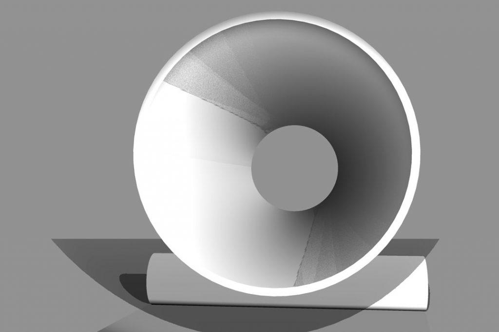 Schatten nach 3D-Darstellung
