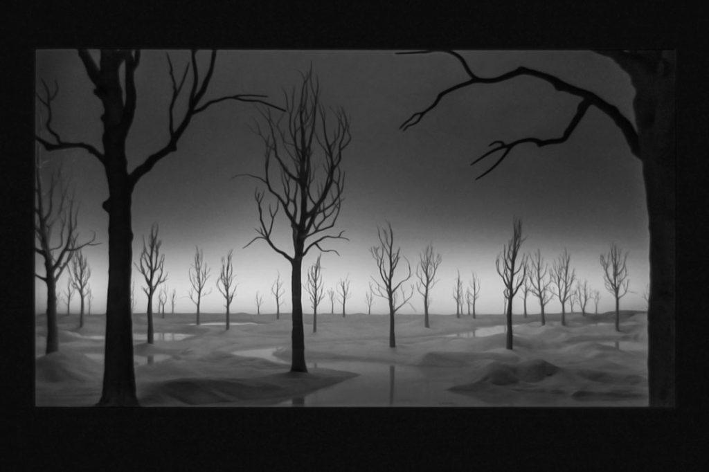 """Foto von der Video-Vorführung """"Staging Silence (2)"""" von Hans Op de Beeck"""