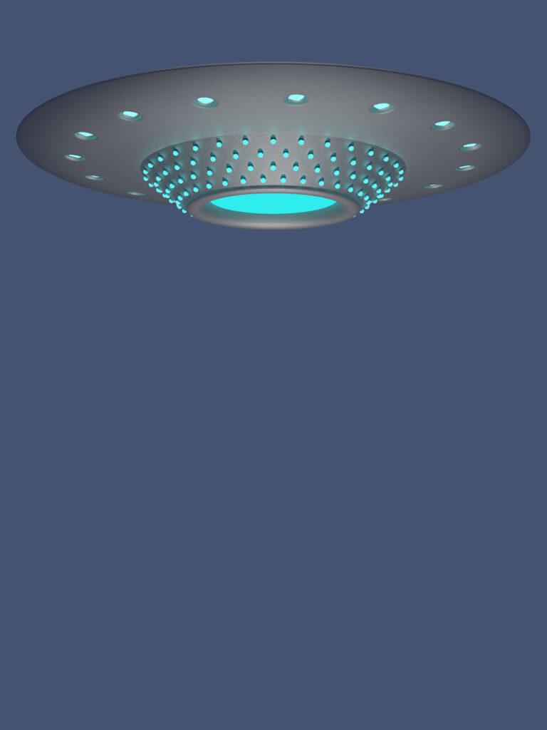 3D-Ufo aus angepasster Kamerasicht