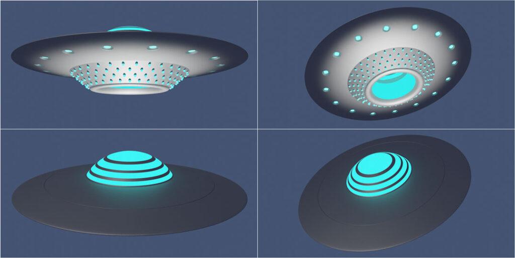 Ufo aus unterschiedlichen Sichten